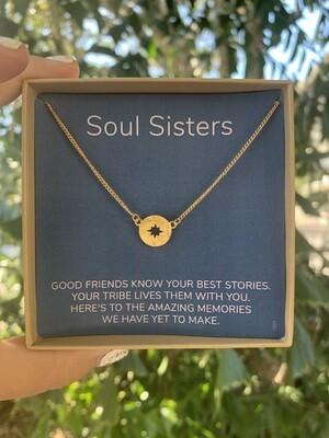 Soul sisters compass necklace