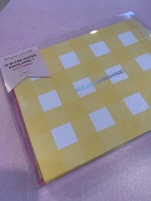 Hello sunshine notecard set