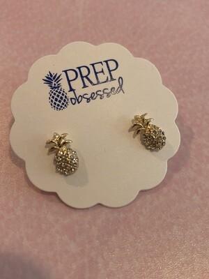 Mini pineapple gold stud earrings