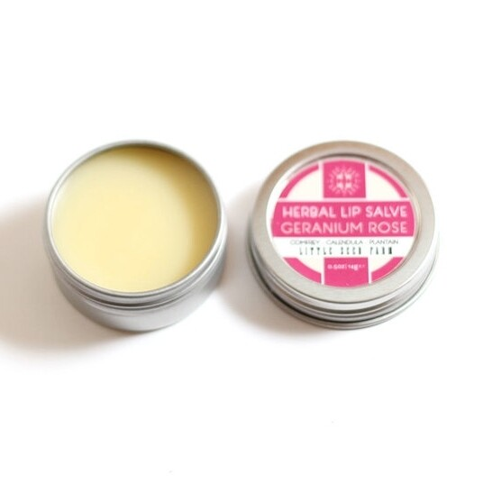 Herbal Lip Salve - Geranium Rose
