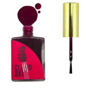 Hot rock red nail polish