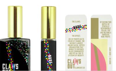 Nude Rainbow Glitter Nail Polish