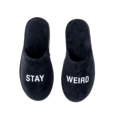 Stay weird slippers