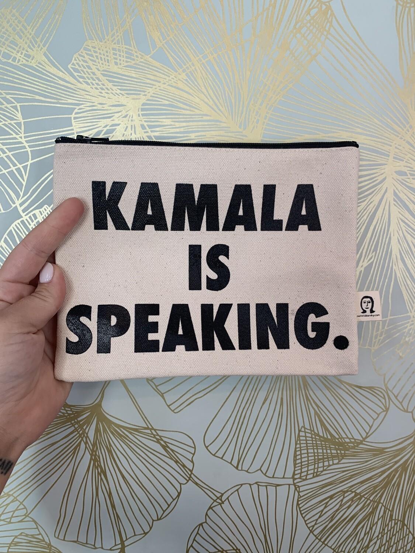 Kamala is speaking clutch - black