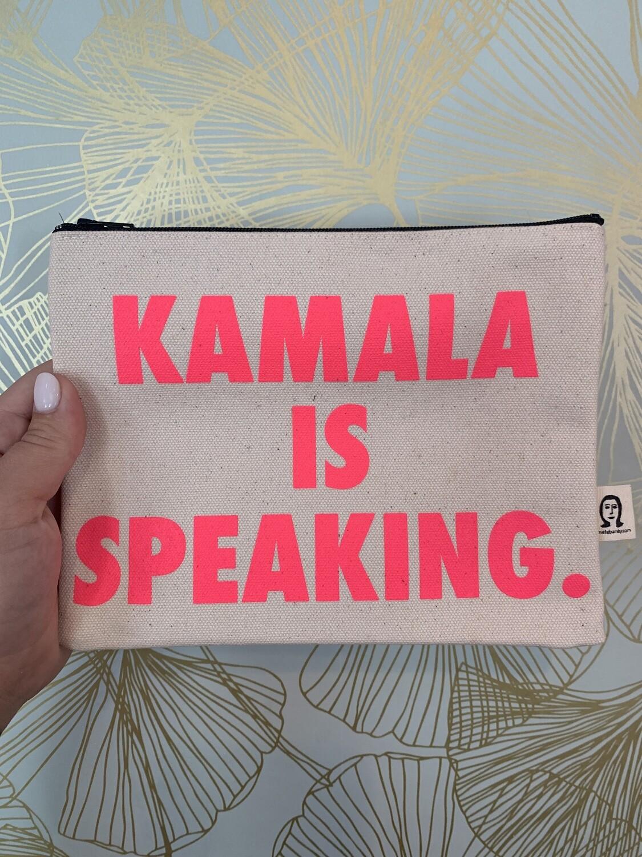 Kamala is speaking clutch - pink