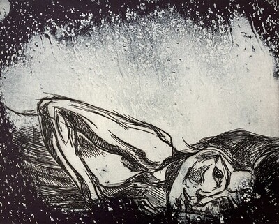 """""""In the Rain 2"""", etching and solar plate etching"""