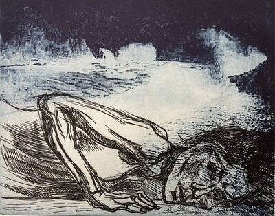 """""""Cave"""", etching with solar plate etching"""