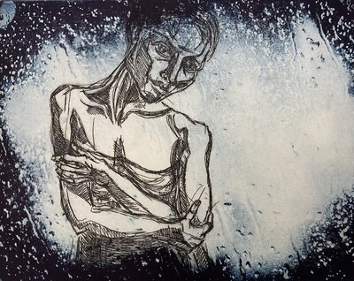 """""""In the Rain"""", etching and solar plate etching"""