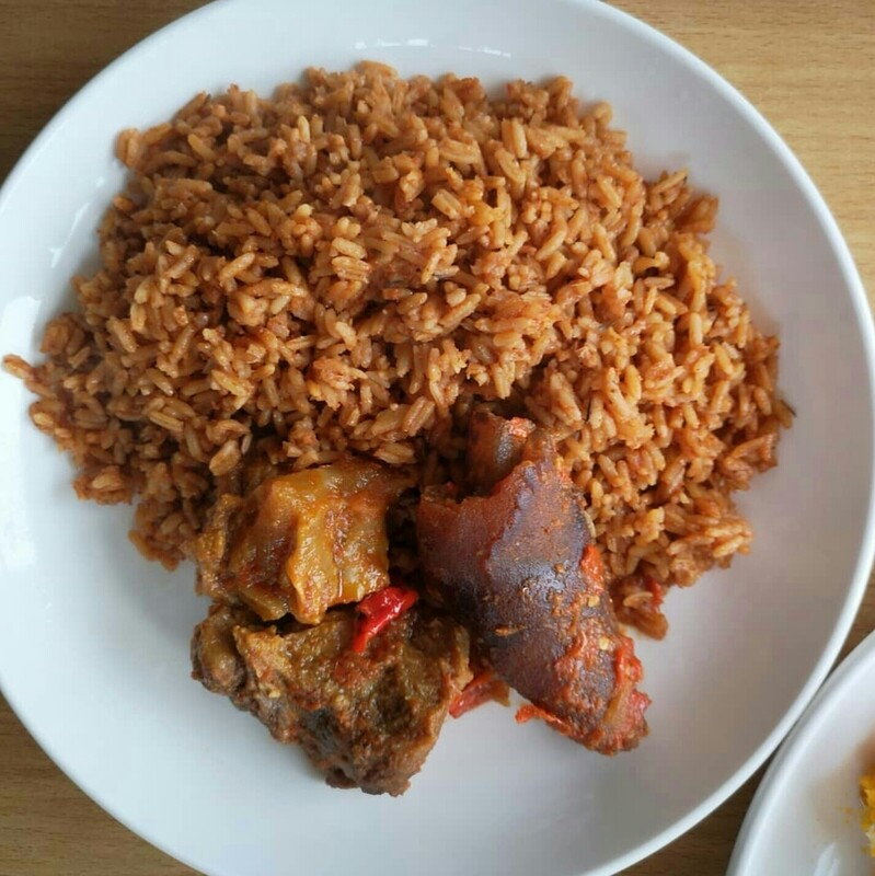 Jollof Rice and Beef