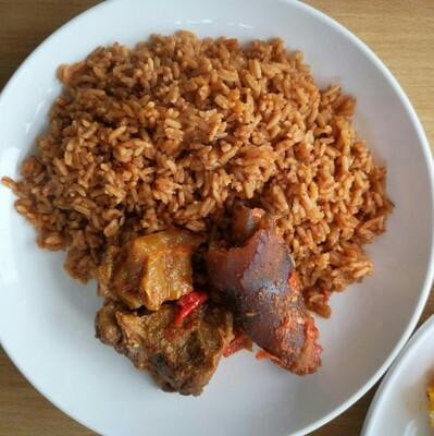Jollof Rice and Beef