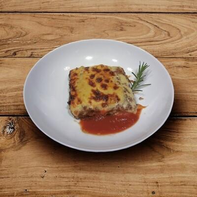 Lasagne, grüner Salat