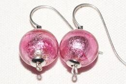 Ohrhänger JOY 10mm Kugel rosa dunkel