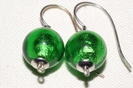 Ohrhänger JOY 10mm Kugel smaragdgrün