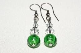Ohrhänger Swarovski Crystal Star /  smaragdgrün