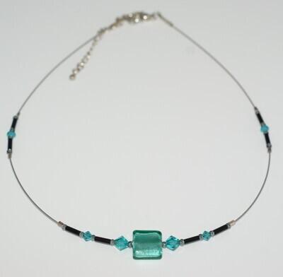 Collier Gondola, Caramella Swarovski, türkisgrün