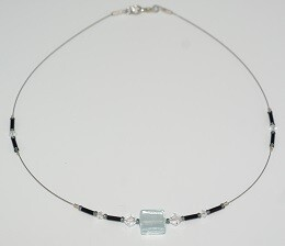 Collier Gondola, Caramella Swarovski, eisblau