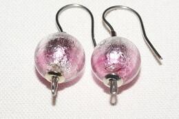 Ohrhänger JOY 10mm Kugel rosa hell