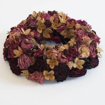 Trockenblumen Kranz (Purpur)