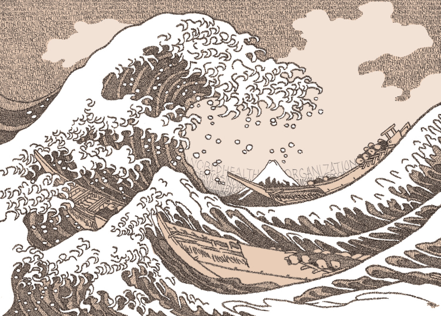 The Great Wave, Hokusai (IN COLOR) - Signed 11