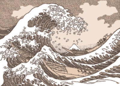 The Great Wave (IN COLOR) - Signed 11