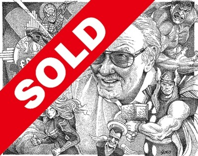 (SOLD!) Stan Lee & The Avengers - ORIGINAL Signed 11