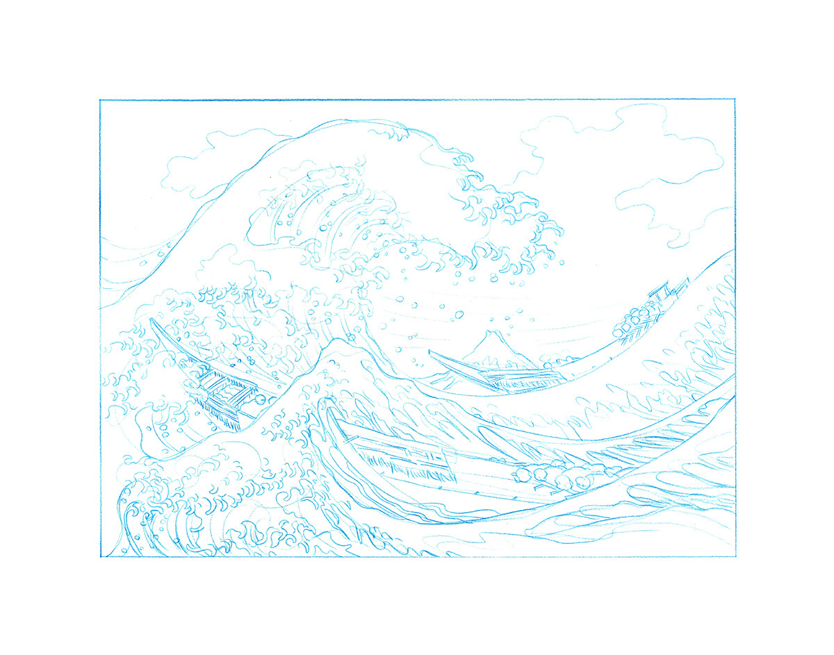 The Great Wave, Hokusai - Signed 8