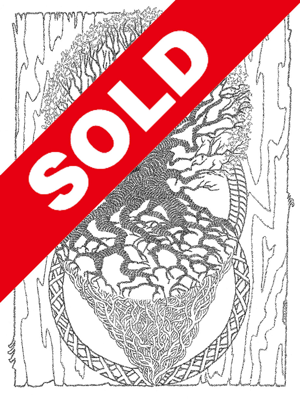 (SOLD!) - Block of Wood  - ORIGINAL Signed 11