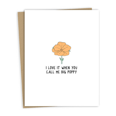 Big Poppy Card