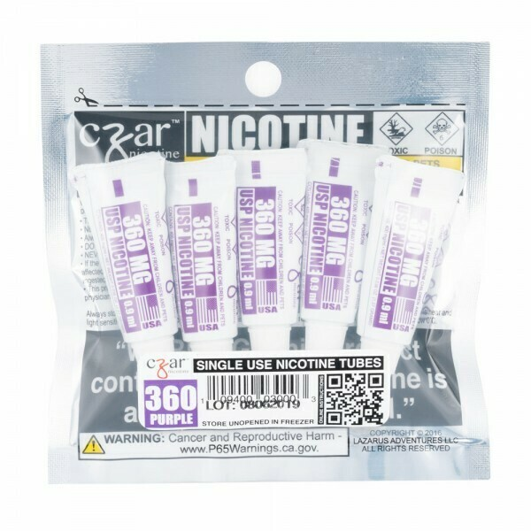Czar Nicotine Tube Additives