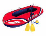 Inflatable boat and oars