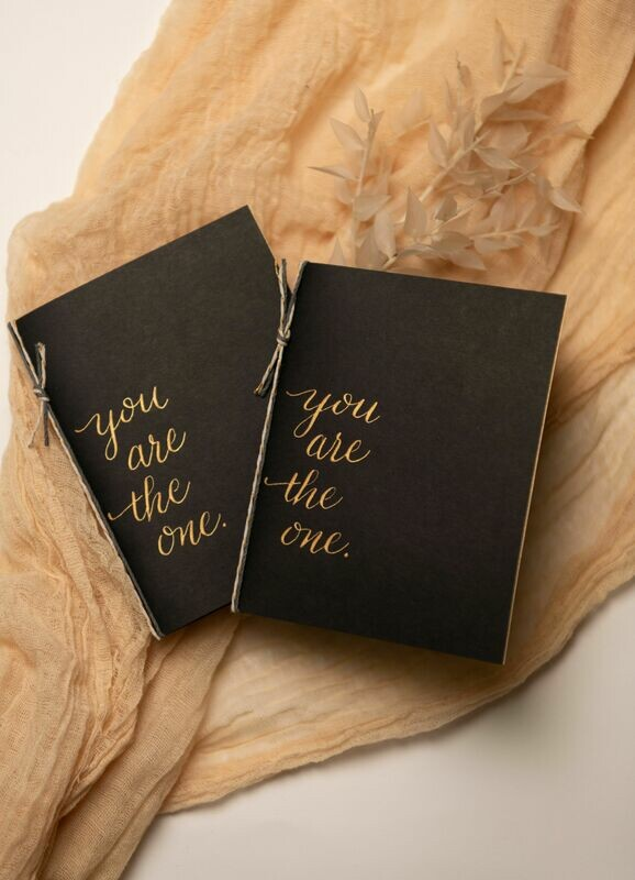 You Are The One: Wedding Vow Booklets