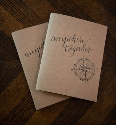 Anywhere Together: Wedding Vow Booklets