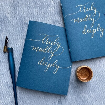 Truly Madly Deeply: Wedding Vow Booklets