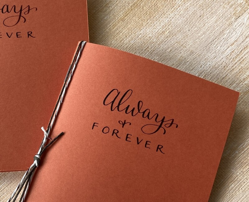 Always & Forever: Wedding Vow Booklets