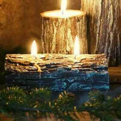 Kynttilä, kaarna laakea