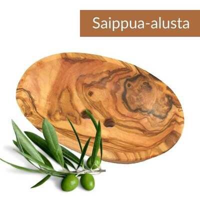 Saippua-alusta oliivipuuta, pituus n. 9 cm.