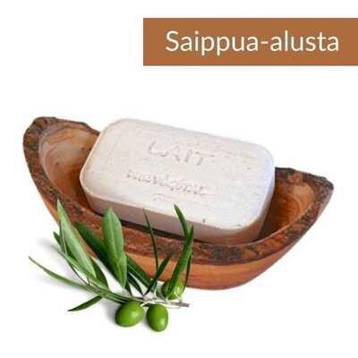 Saippua-alusta oliivipuuta