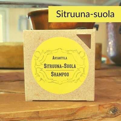 Sitruuna-suola shampoo