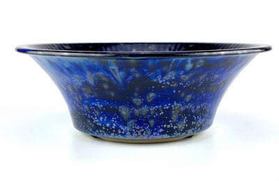 Bonsai Pot - Round Cobalt