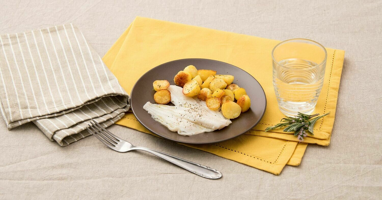 Filetto di Platessa al Forno con Patate