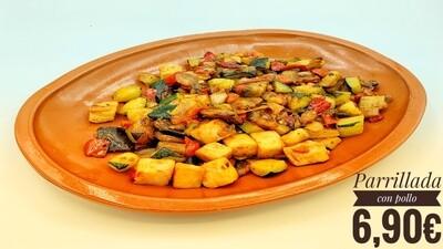Parrillada de verduras con pollo