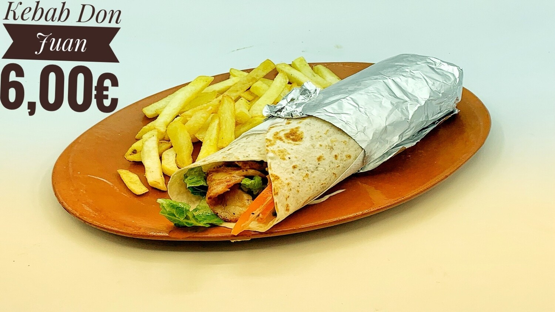Kebab - Wrap de Pollo Don Juan