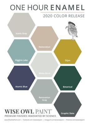 New! One Hour Enamel Paint Colors!