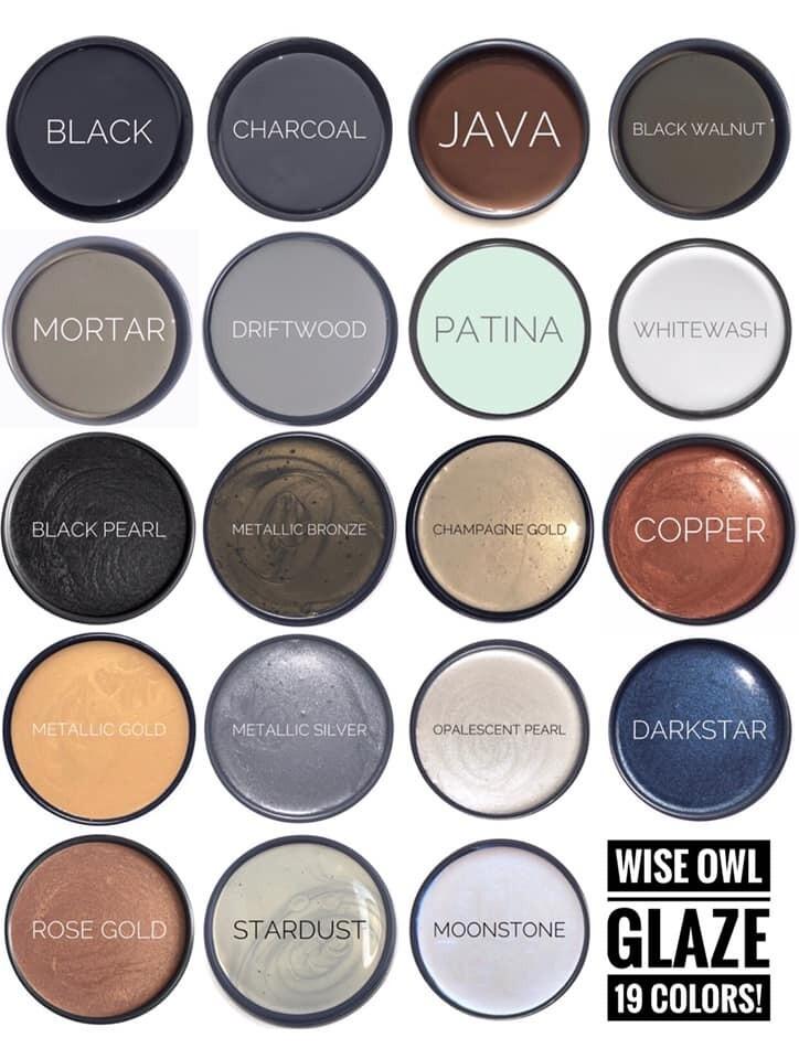 Wise Owl Metallic Glazes