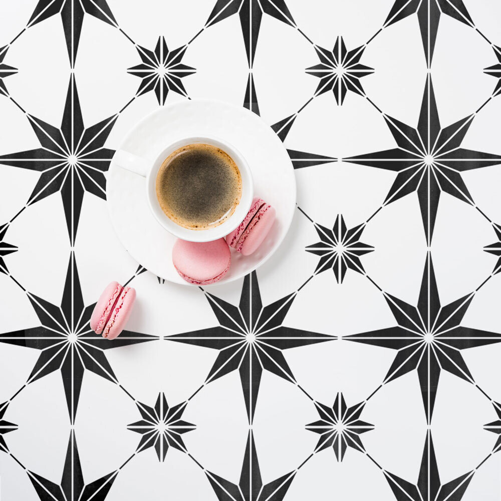 Star Tile Stencil Size Extra Large