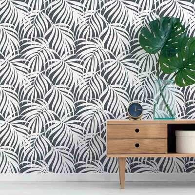 Breezy Palm Wall Stencil