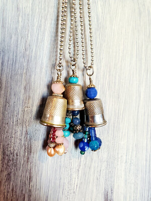 Thimble Necklace and Matching Earings Workshop