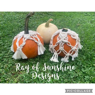 Macramé Pumpkin Covers October 19th 6:30-8:30