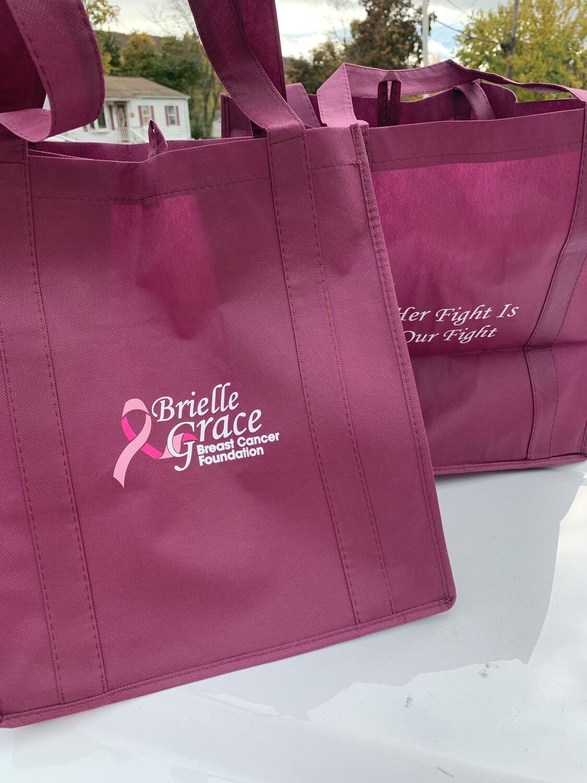 Brielle Grace Reusable Shopping Bag Burgundy Donation