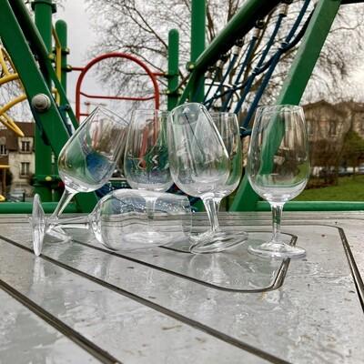 6 verres de dégustation «Viticole» 22cl (Verrerie de Bourgogne)
